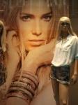 Lange blonde haren is mode
