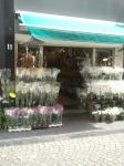 Bloemenwinkel in de buurt van de markt